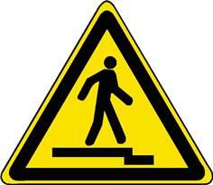 Danger - Accès accidenté, vers le bas - STF 3134S