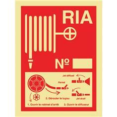 Consigne pour RIA photoluminescente norme ISO 6309