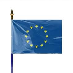 Drapeau Européen monté sur hampe - 60 x 90 cm