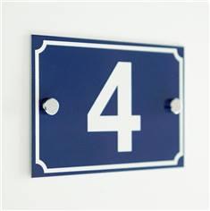 Numéro de maison en tôle d´alu laquée - 2 trous - H 100 x L 150 mm