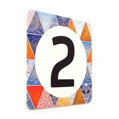 Plaque de porte Chiffre à personnaliser - 150 x 150 mm - PVC de 2 mm imprimé - Gamme Mosaïque®