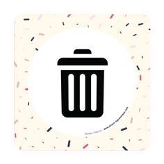 Plaque de porte Local poubelles - 150 x 150 mm - PVC de 2 mm imprimé - Gamme Mosaïque®
