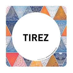 Plaque de porte Tirez - 150 x 150 mm - PVC de 2 mm imprimé - Gamme Mosaïque®