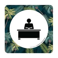 Plaque de porte Bureau - 150 x 150 mm - PVC de 2 mm imprimé - Gamme Mosaïque®