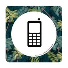 Plaque de porte Téléphone portable autorisé - 150 x 150 mm - PVC de 2 mm imprimé - Gamme Mosaïque®