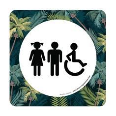 Plaque de porte Toilettes Garçons, Filles et PMR - 150 x 150 mm - PVC de 2 mm imprimé - Gamme Mosaïque®