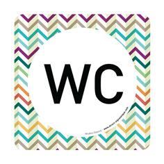 Plaque de porte WC - 150 x 150 mm - PVC de 2 mm imprimé - Gamme Mosaïque®