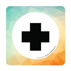 Plaque de porte Infirmerie - 150 x 150 mm - PVC de 2 mm imprimé - Gamme Mosaïque®