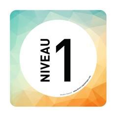 Plaque de porte Niveau 1 - 150 x 150 mm - PVC de 2 mm imprimé - Gamme Mosaïque®
