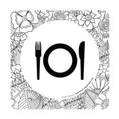 Plaque de porte Salle de restaurant - 150 x 150 mm - PVC de 2 mm imprimé - Gamme Mosaïque®