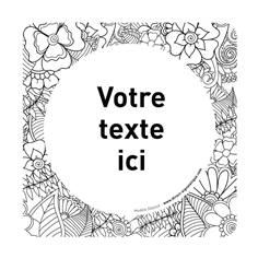 Plaque de porte texte à personnaliser - 150 x 150 mm - PVC de 2 mm imprimé - Gamme Mosaïque®