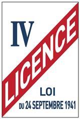 Panneau Licence IV - H 150 x L 210 mm