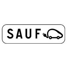 Panonceau Interdit Sauf Véhicules Electriques - M6i pour panneau de stationnement type B6