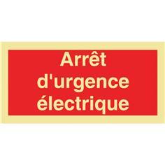 Panneau photoluminescent Arrêt d´urgence électrique