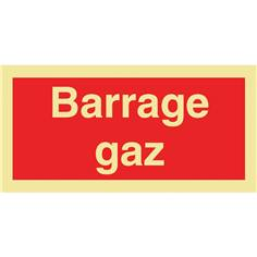 Panneau photoluminescent Barrage gaz