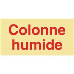 Panneau photoluminescent Colonne humide