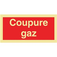 Panneau photoluminescent Coupure gaz