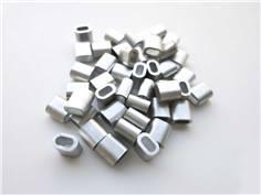 50 Clips aluminium - 1,5mm - Porte-affiches suspendu