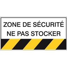 Zone de sécurité ne pas stocker STF 460