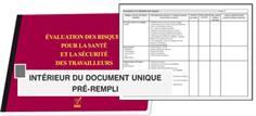 Document unique d´évaluation des risques professionnels
