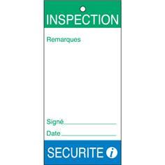 Lot de 10 Etiquettes avec collier - sécurité inspection