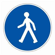 Panneau ´Chemin obligatoire pour piétons´ - R22