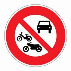 Panneau ´Accès interdit à tous les véhicules à moteur´ - R8