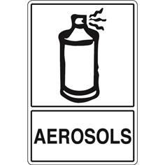 Signalisation de Tri pour Aérosols - H 450 x L 300 mm - STF 972