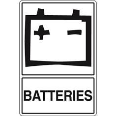 Signalisation de Tri pour Batteries - H 450 x L 300 mm - STF 968