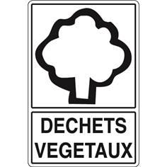 Signalisation de Tri pour Déchets Végétaux - H 450 x L 300 mm - STF 963