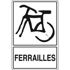 Signalisation de Tri pour Ferrailles - H 450 x L 300 mm - STF 960