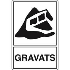 Signalisation de Tri pour Gravats - H 450 x L 300 mm - STF 964