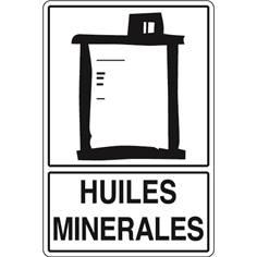 Signalisation de Tri pour Huiles minérales - H 450 x L 300 mm - STF 973