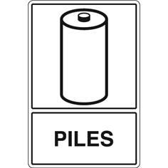 Signalisation de Tri pour Piles - H 450 x L 300 mm - STF 975