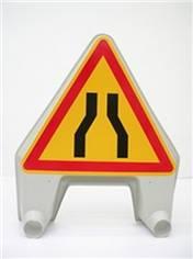 Panneau temporaire rétrécissement de la chaussée en plastique - Ak3