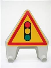 Panneau temporaire Feux de signalisation lumineux en plastique - Ak17