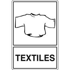 Signalisation de Tri pour Textiles - H 450 x L 300 mm - STF 974