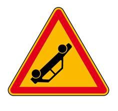 Panneau de danger accident sur pied solidaire - AK31