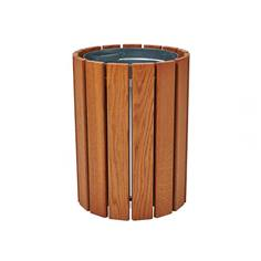 Corbeille urbaine ronde de propreté - 60 Litres