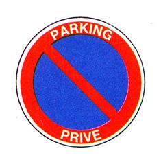 Panneau Stationnement interdit Parking privé - R33