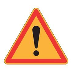 Panneau de danger Ak14 - Attention danger - Panneau seul