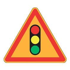 Panneau de danger Ak17 - Feux tricolores - Panneau seul