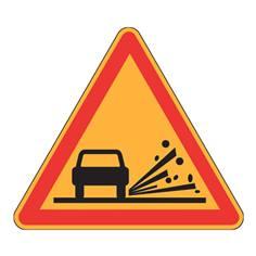Panneau de danger Ak22 - Projections de gravillons - Panneau seul