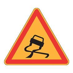 Panneau de danger Ak4 - Chaussée glissante - Panneau seul