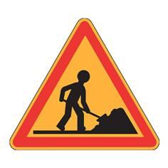 Panneau de danger Ak5 - Danger Travaux - Panneau seul