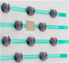 165 plots (kit avec 5 plaquettes de 33 plots) striés en polyamide avec adhésif épais prêt à poser
