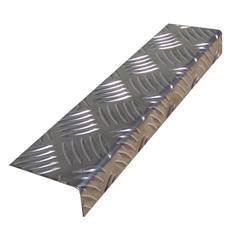 Nez de marche XL Brut en Aluminium - A coller ou visser - Intérieur/Extérieur - larg 70 mm
