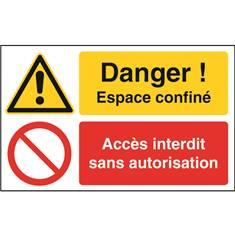 Espace confiné / accès interdit sans autorisation STF 2525