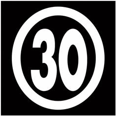 Zone 30 en thermocollé