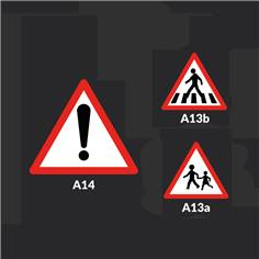 Marquage au sol en thermocollée Danger Ecole - A13a